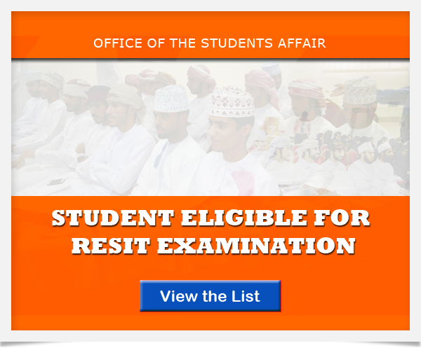 Student Eligible for Resit Examination