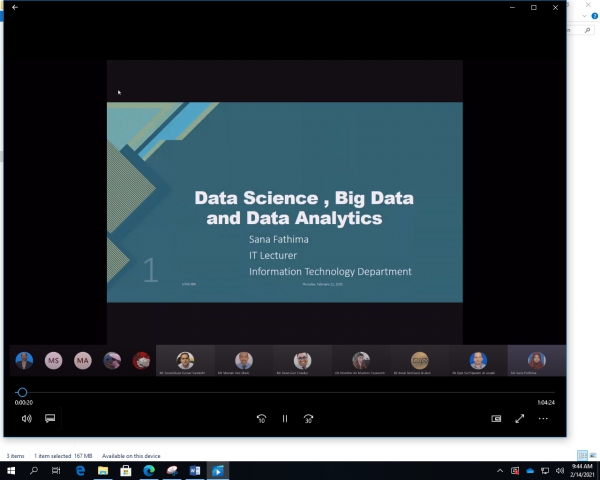 Title 	Data Science Research Group Knowledge sharing session