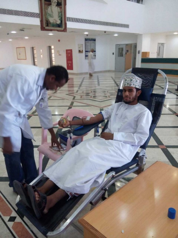 Health & Safety Committee Organises a Blood Donation Camp in Ibri College of Technology